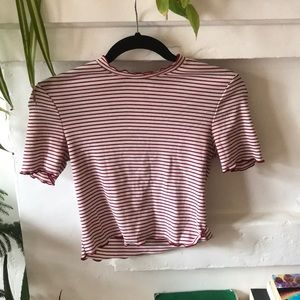 Red and white striped Zara shirt